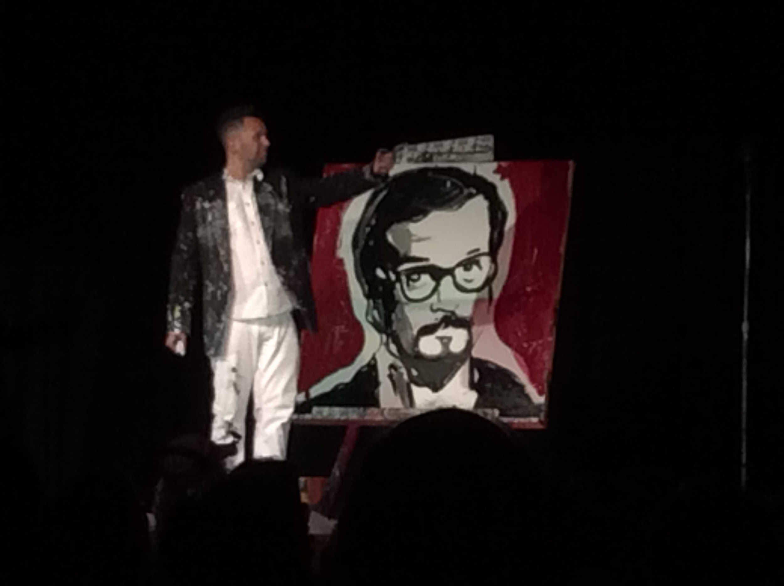 John Jansky paints a portrait of Harry Blackstone, Jr.