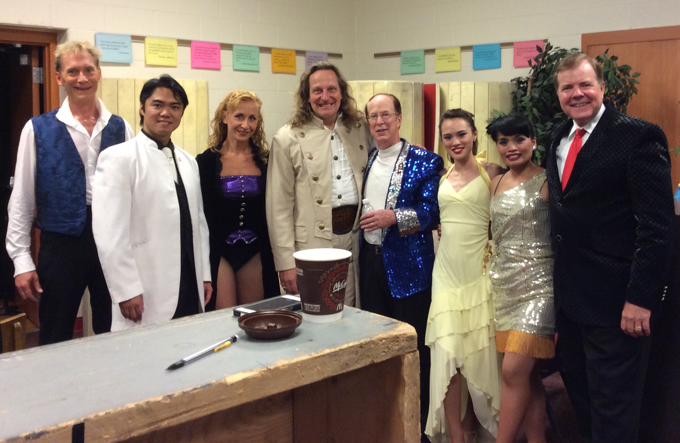 Friday Night cast backstage