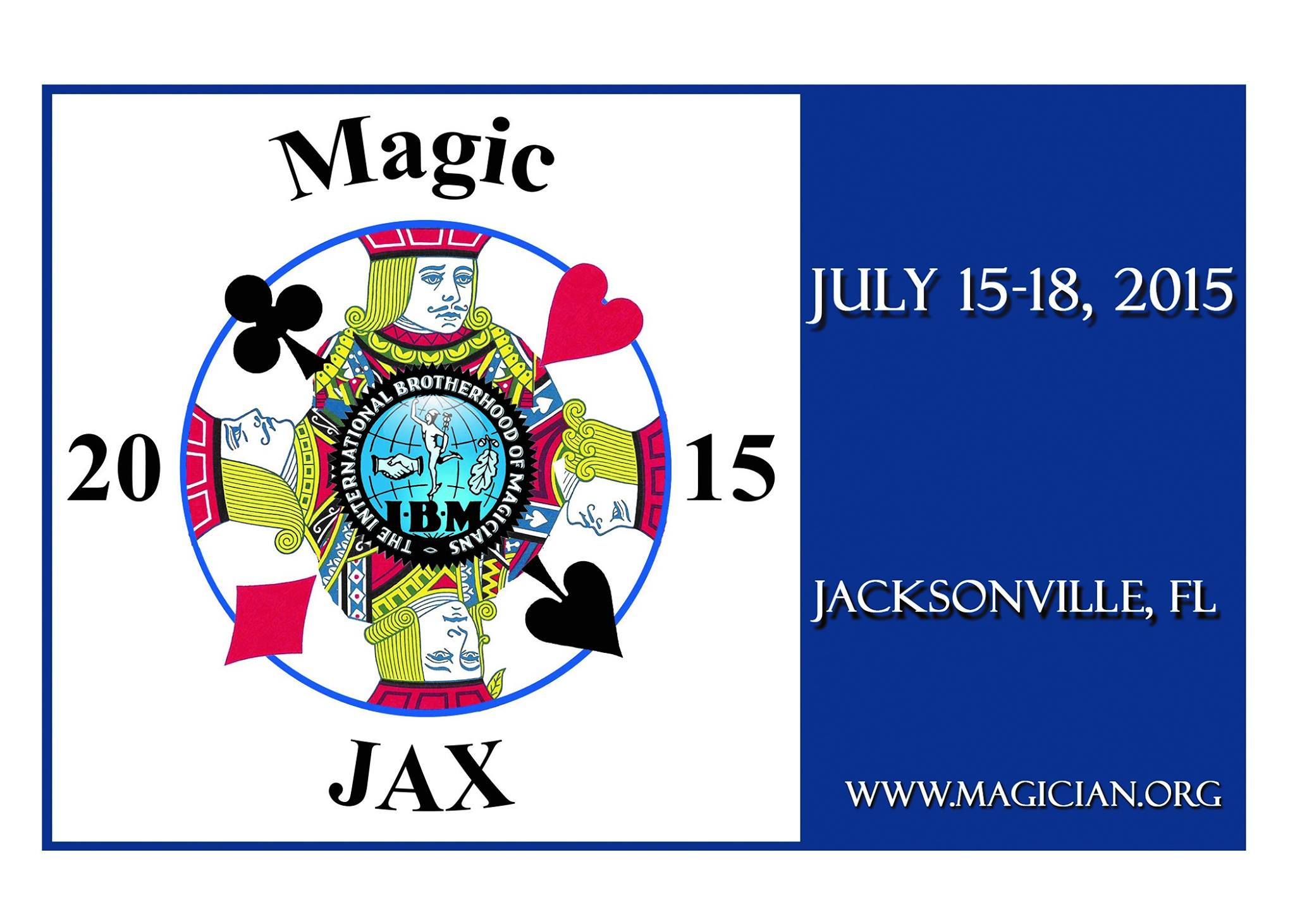 If you have not yet made your reservation for your hotel room at the Hyatt Regency for the Jacksonville convention which takes place July 15th - 18th, 2015, your time is running out!  After June 15th, the convention rate of only $99 will end, and there will be no guarantee of availability of additional room reservations.  If you are planning on attending the Jacksonville convention which promises  to be a fantastic event, register for the convention, and MAKE YOUR HOTEL RESERVATION NOW!!!!  You can register for the convention here:   https://www.magician.org/  convention/ online-registration   You can make your hotel reservation here:   https://aws.passkey.com/g/ 20902549  or by calling the Hyatt Regency directly at 1-800-421-1442.