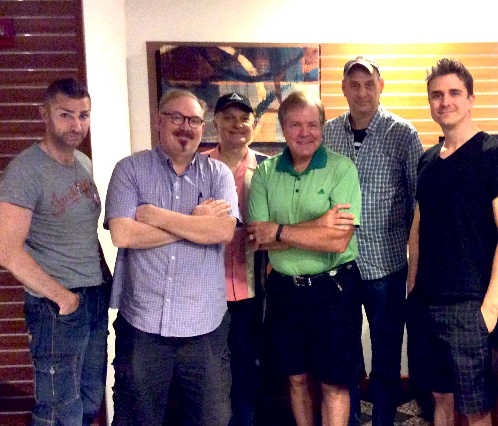 Aaron Crow, Kevin James, Jeff Hobson, Scott Wells, David Williamson and Adam Trent