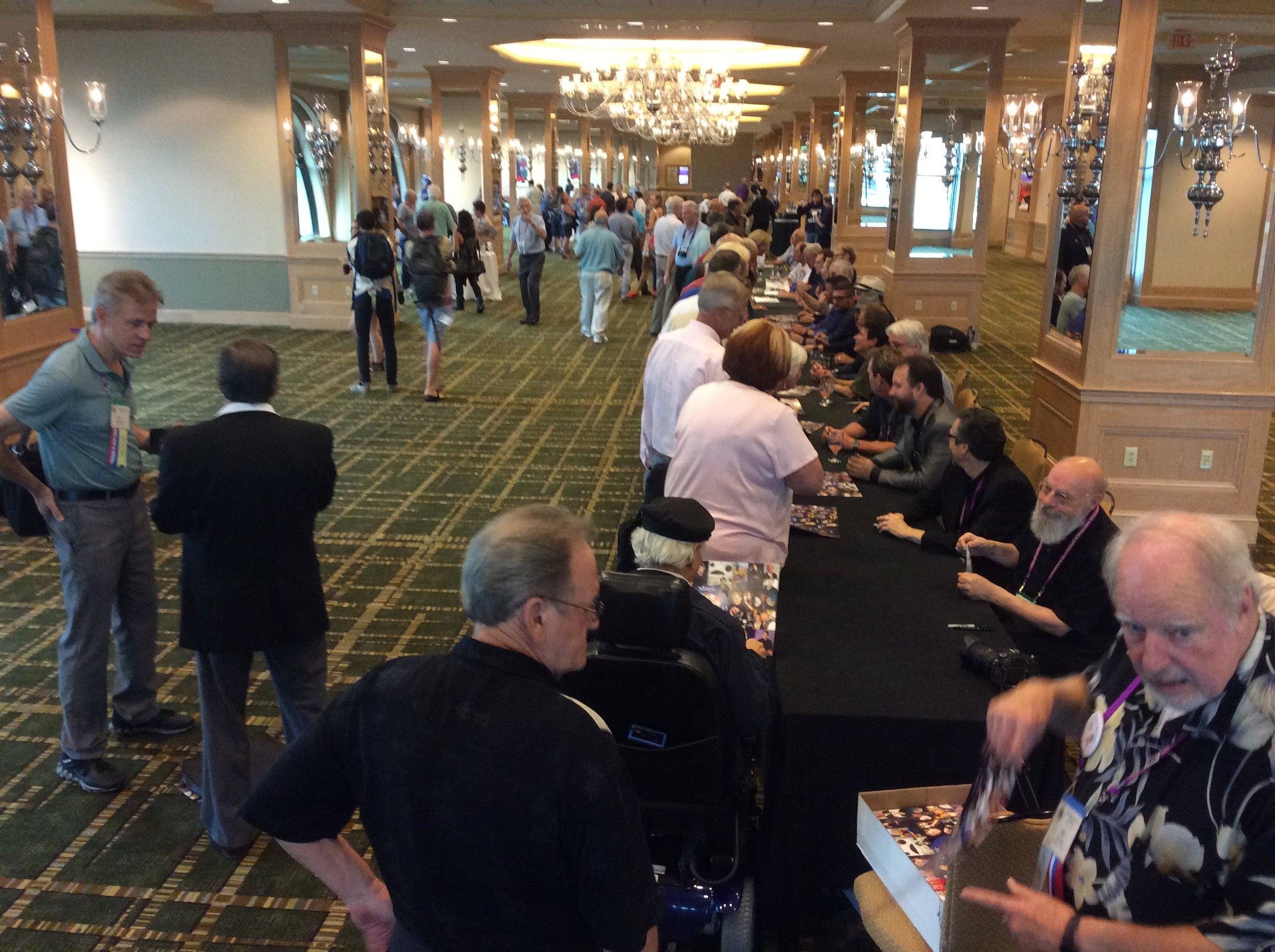 Autograph party with free posters