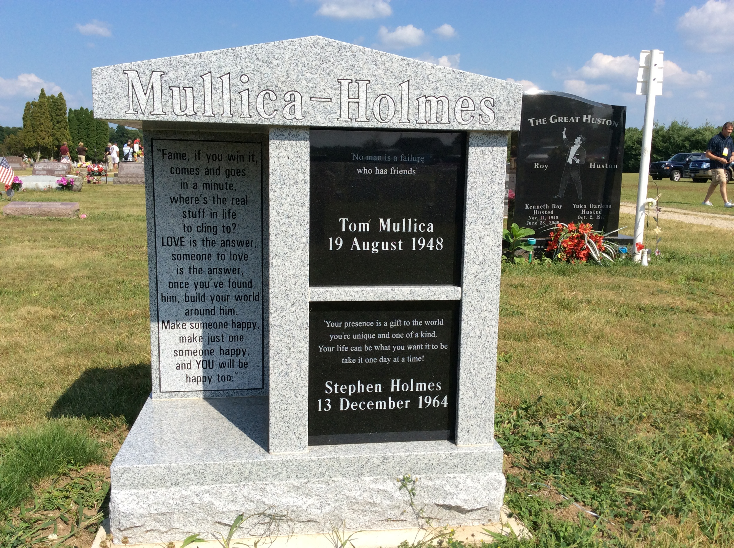 Tom and Steve Mullica's Headstone in Colon, Michigan