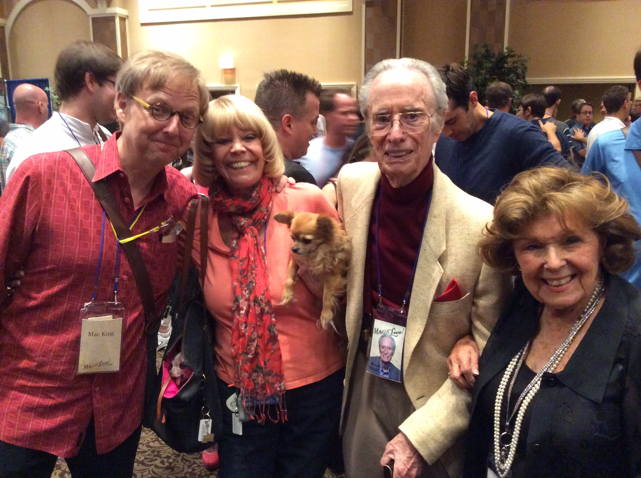 Mac King, Pam Thompson, Marvin Roy and Mary Naylor Kodell