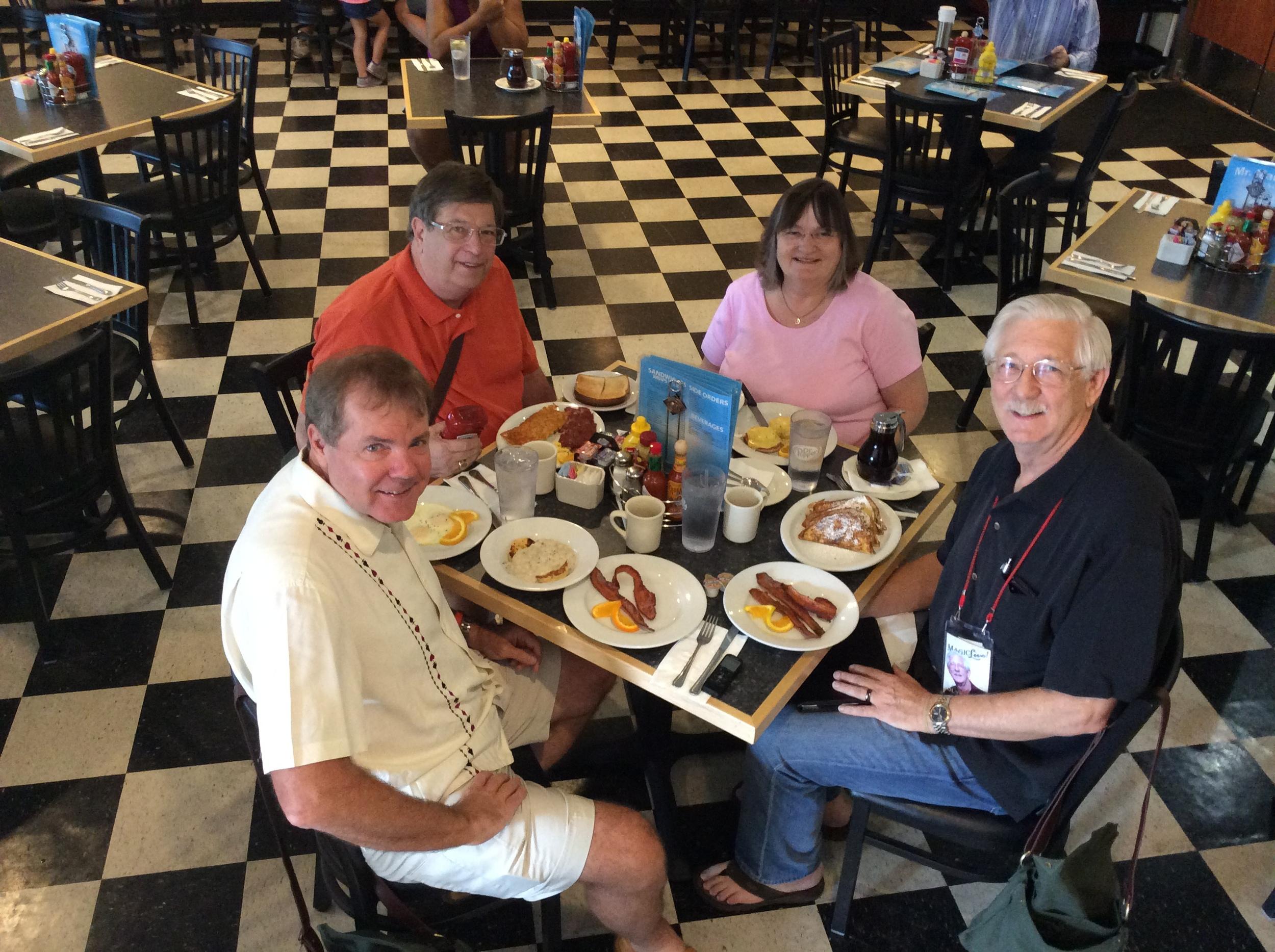 (left to right) Scott Wells, David Hinkin, Diane Olson and Dick Olson