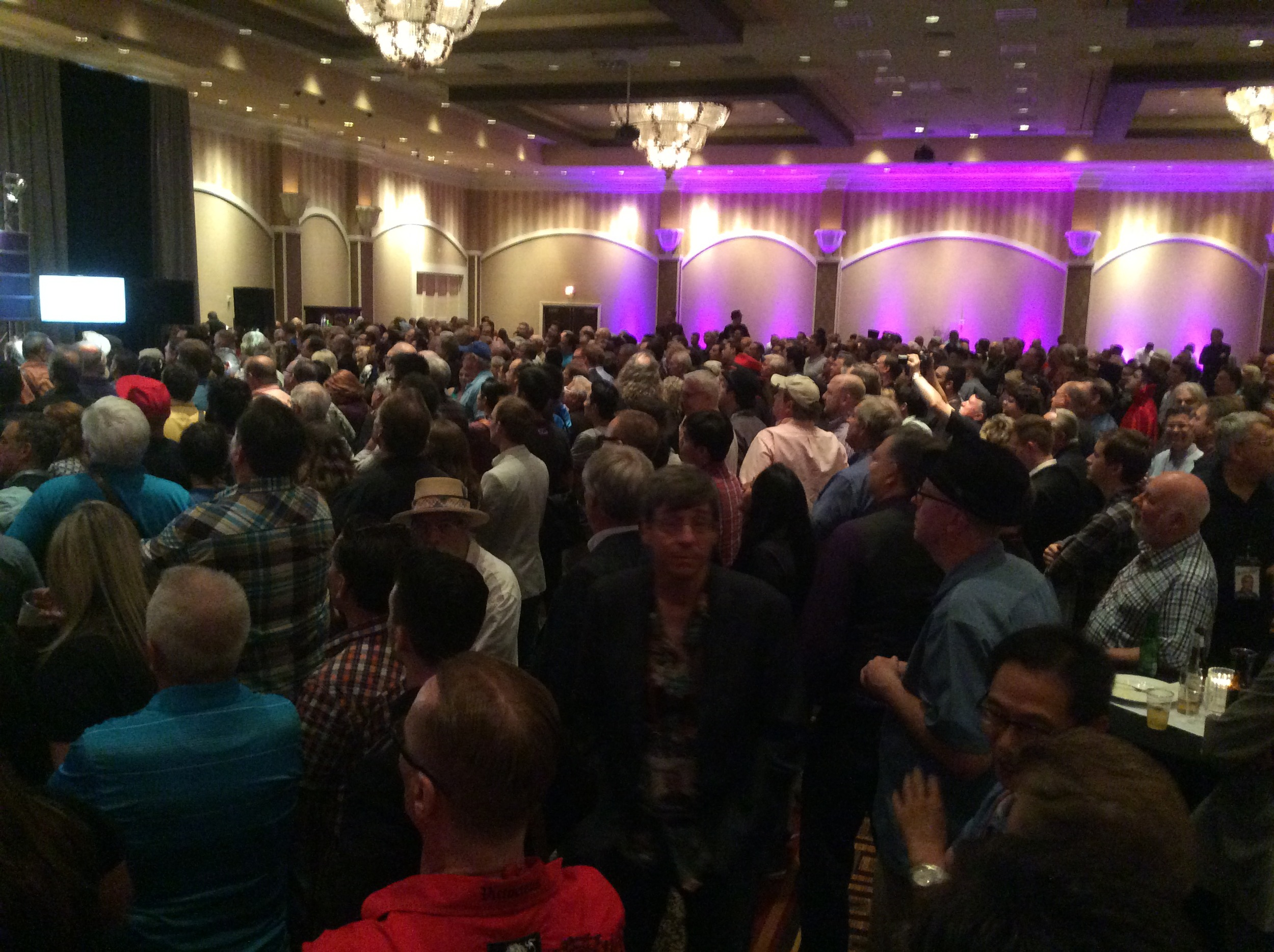 1,600 registrants easily squeezed into the ballroom for dinner and to say farewell to each other.