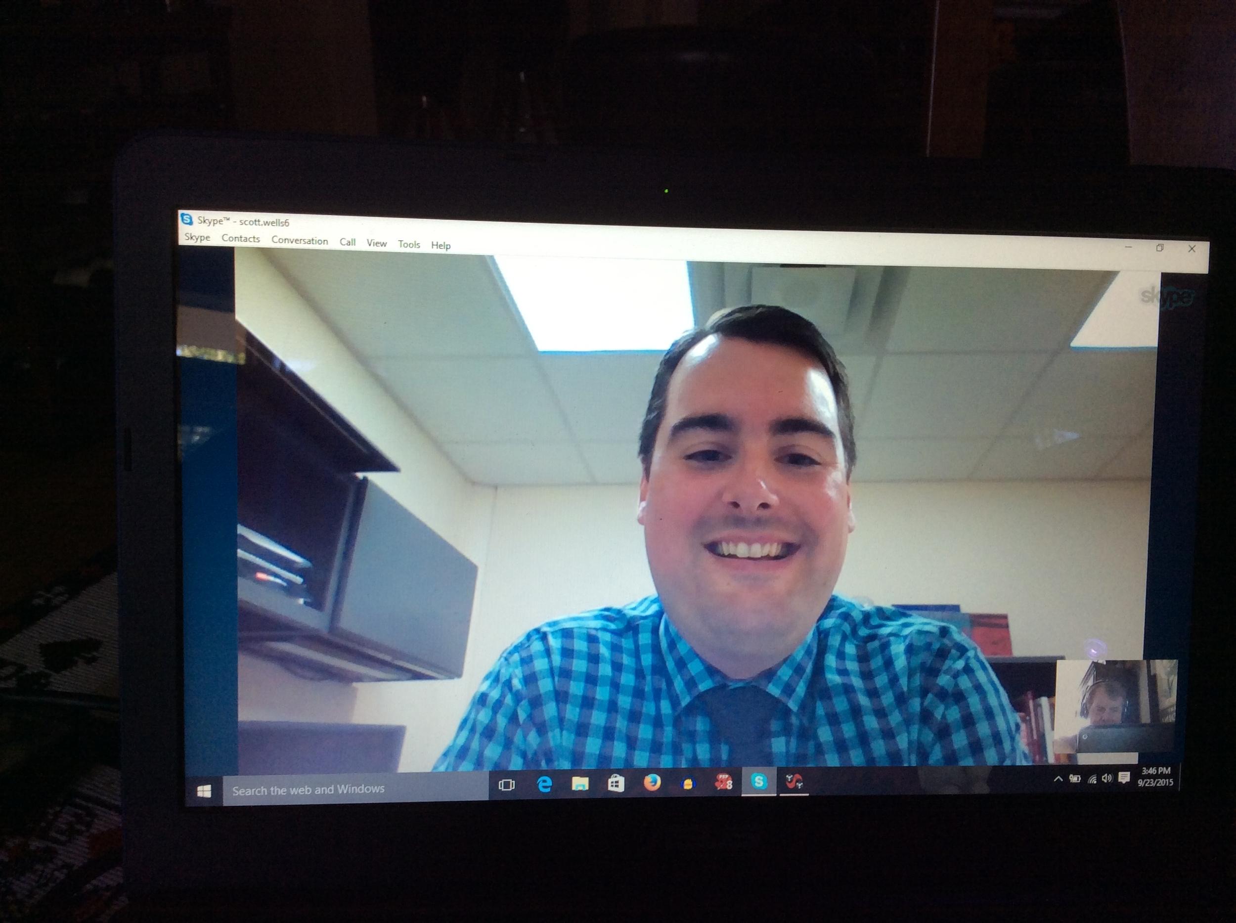 Tony Barnhart on Skype call