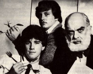 """A very young Steve Shaw, Michael Edwards and James """"The Amazing"""" Randi"""
