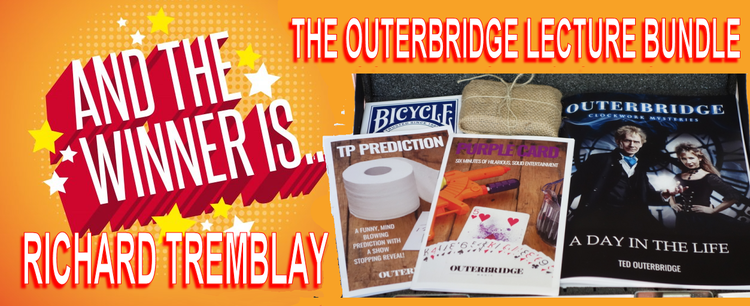"""Congratulations to Richard Tremblay who won the """"Outerbridge Lecture Bundle"""" valued at $135.00. Please check out current blogs for the newest contest."""