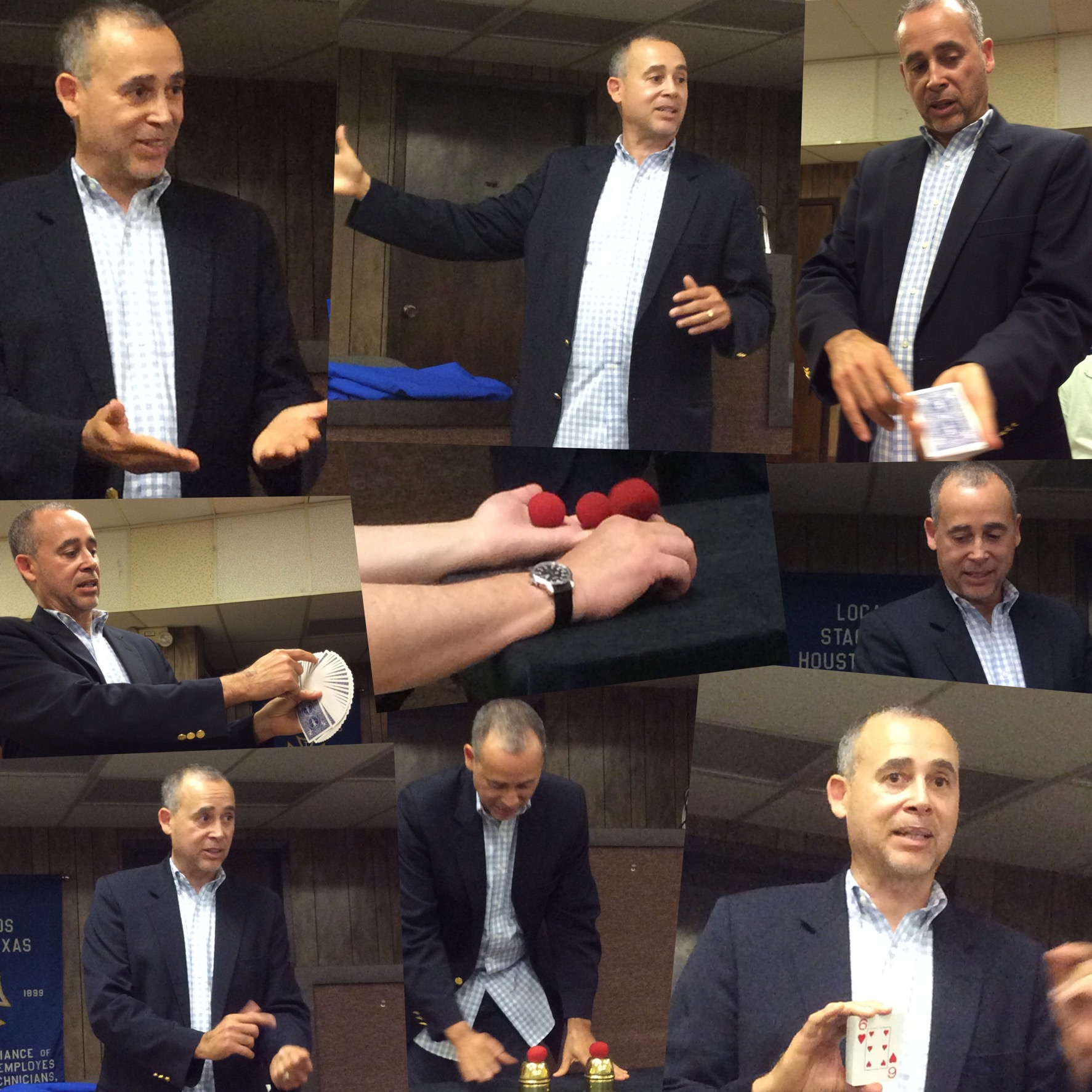 Carl Andrews lectures for the Houston Association of Magicians