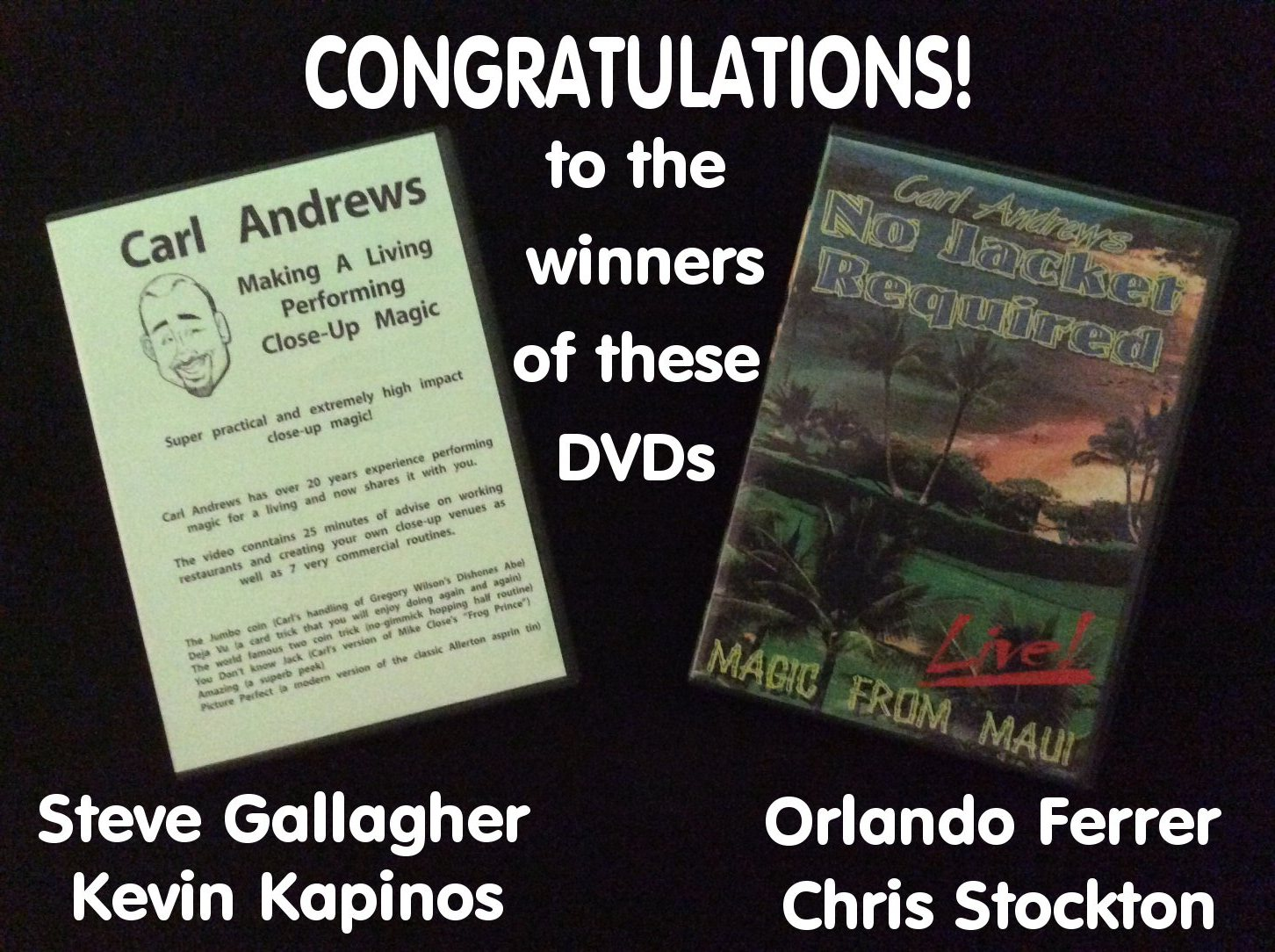 Thank you to the Friends of The Magic Word whose financial support helps pay for the shipping of these prizes.
