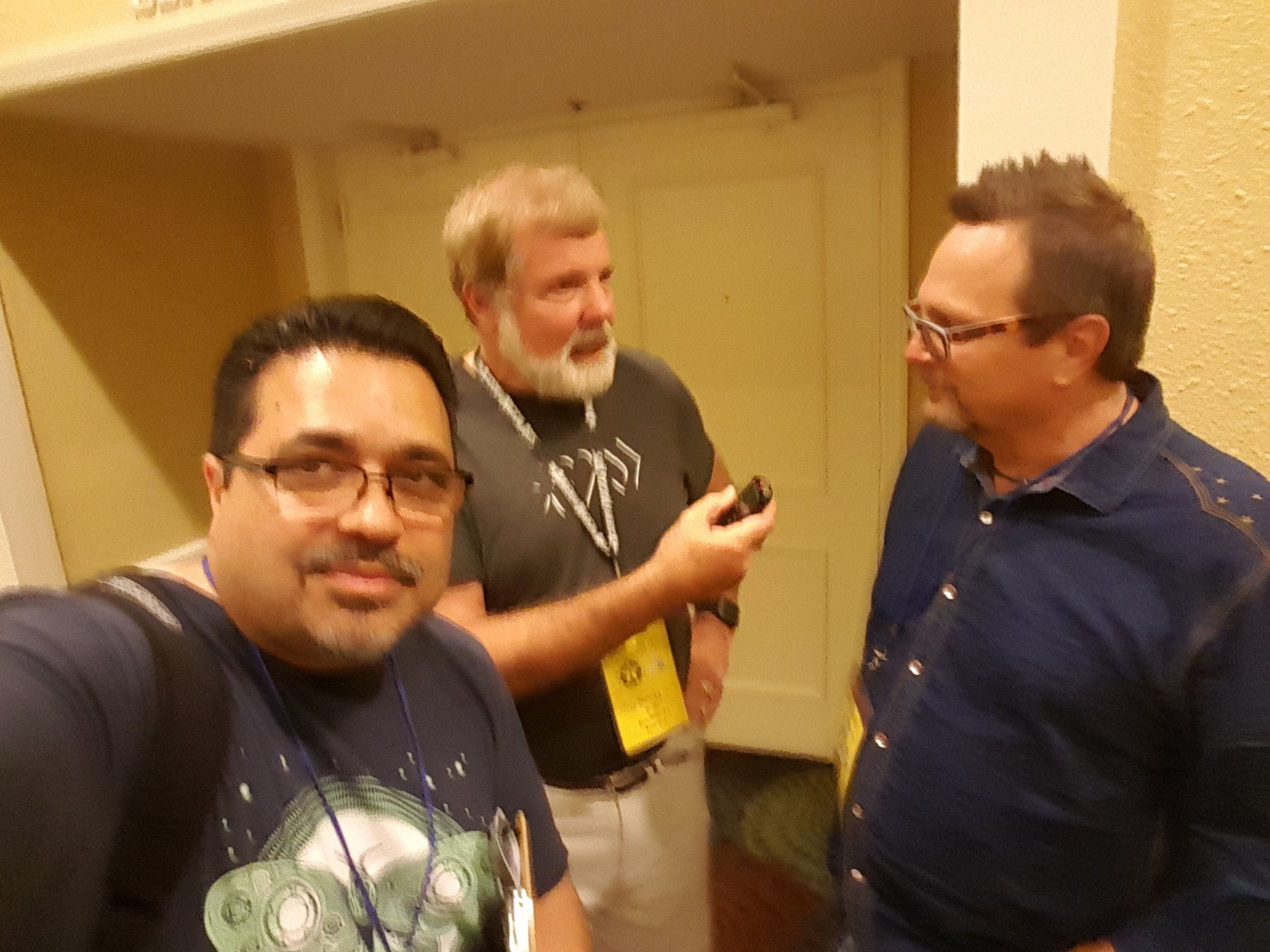 Jamie Salinas, Scott Wells and C.J. Johnson