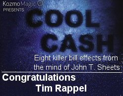 """Congratulations to Tim Rappel, winner of this week's contest prize """"Cool Cash"""". Watch for upcoming contests on The Magic Word."""