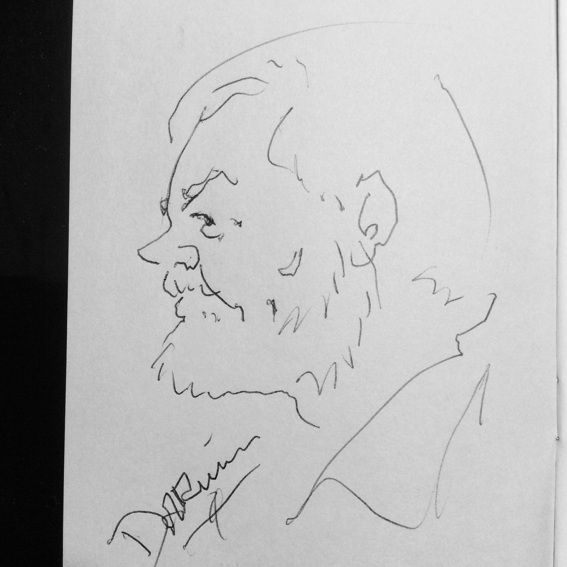 Gary Darwin's 60 second drawing of Scott Wells