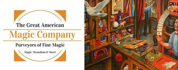 Click on the banner to visit The Great American Magic Company. Be sure to use the promo code MW when checking out to receive $15 off of any order over $100.
