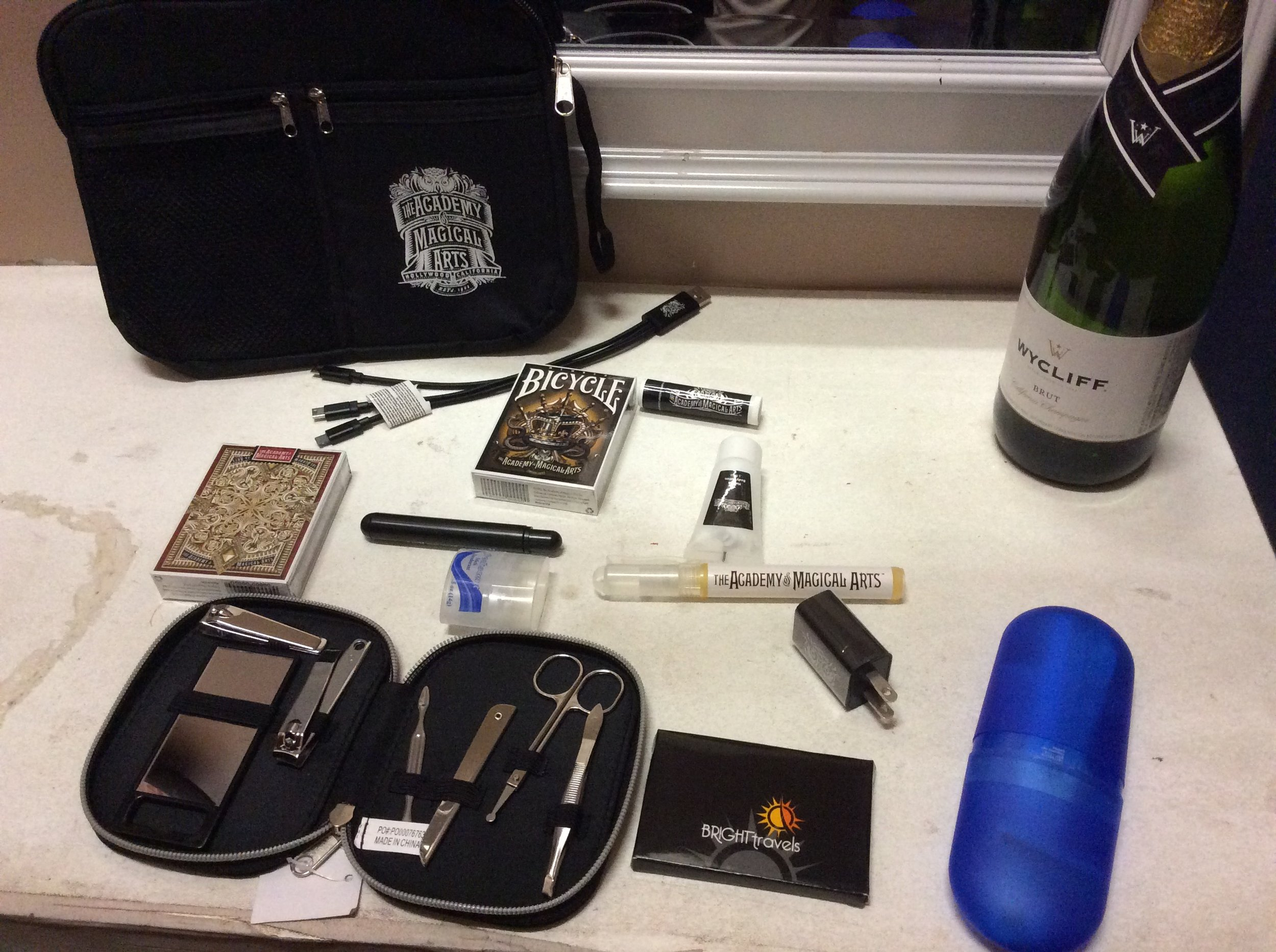 New gift bag that awaits performers at The Magic Castle