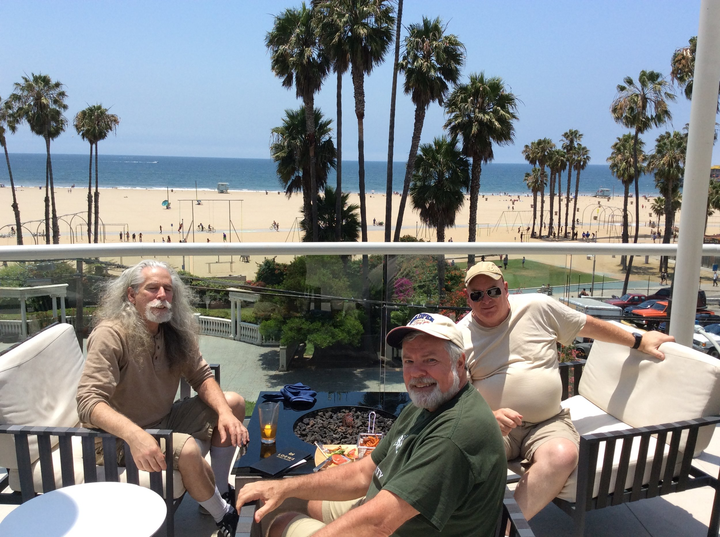 Outside dining at Loew's in Santa Monica, CA