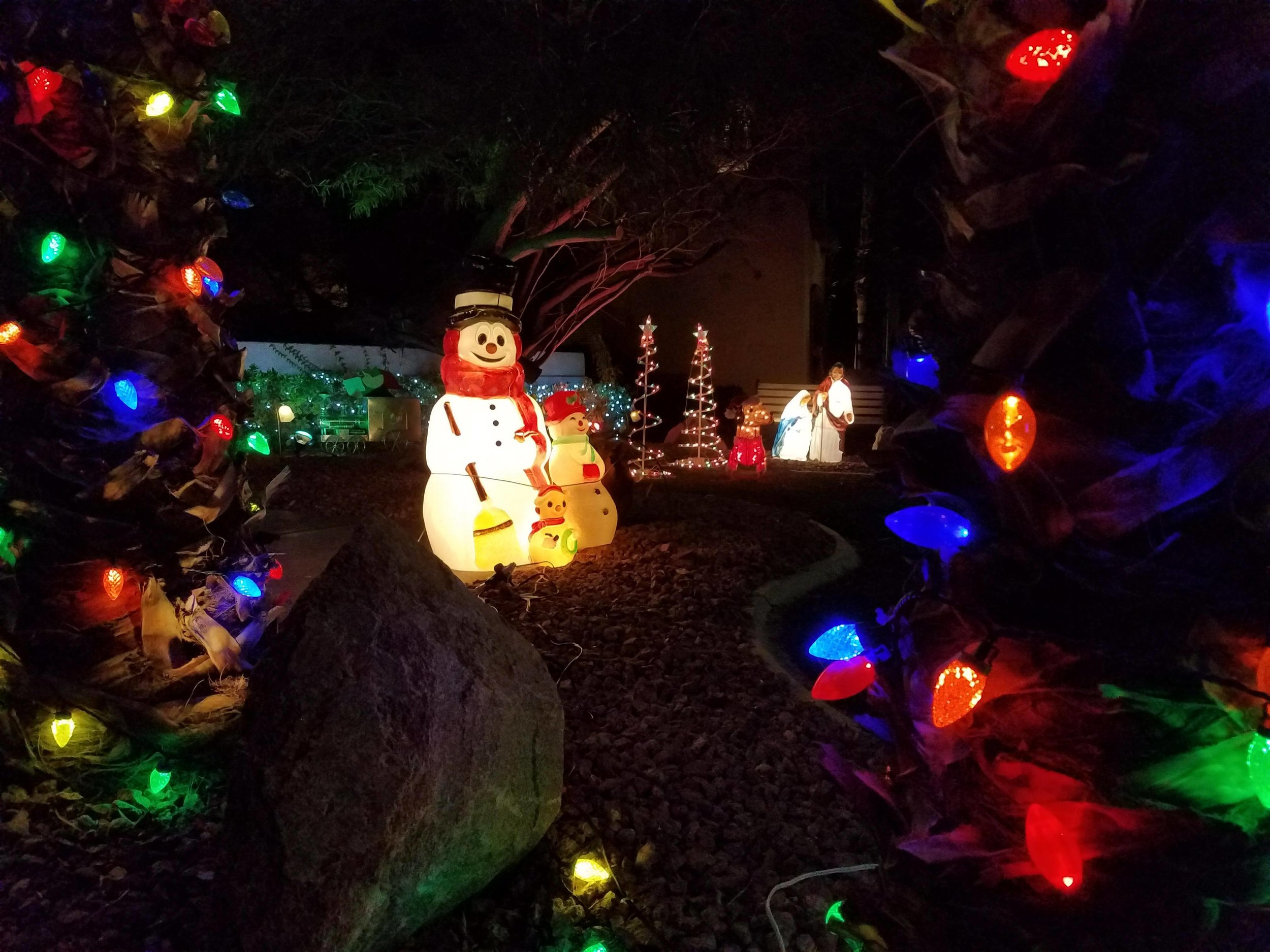 Murray's Christmas decorations on his home.