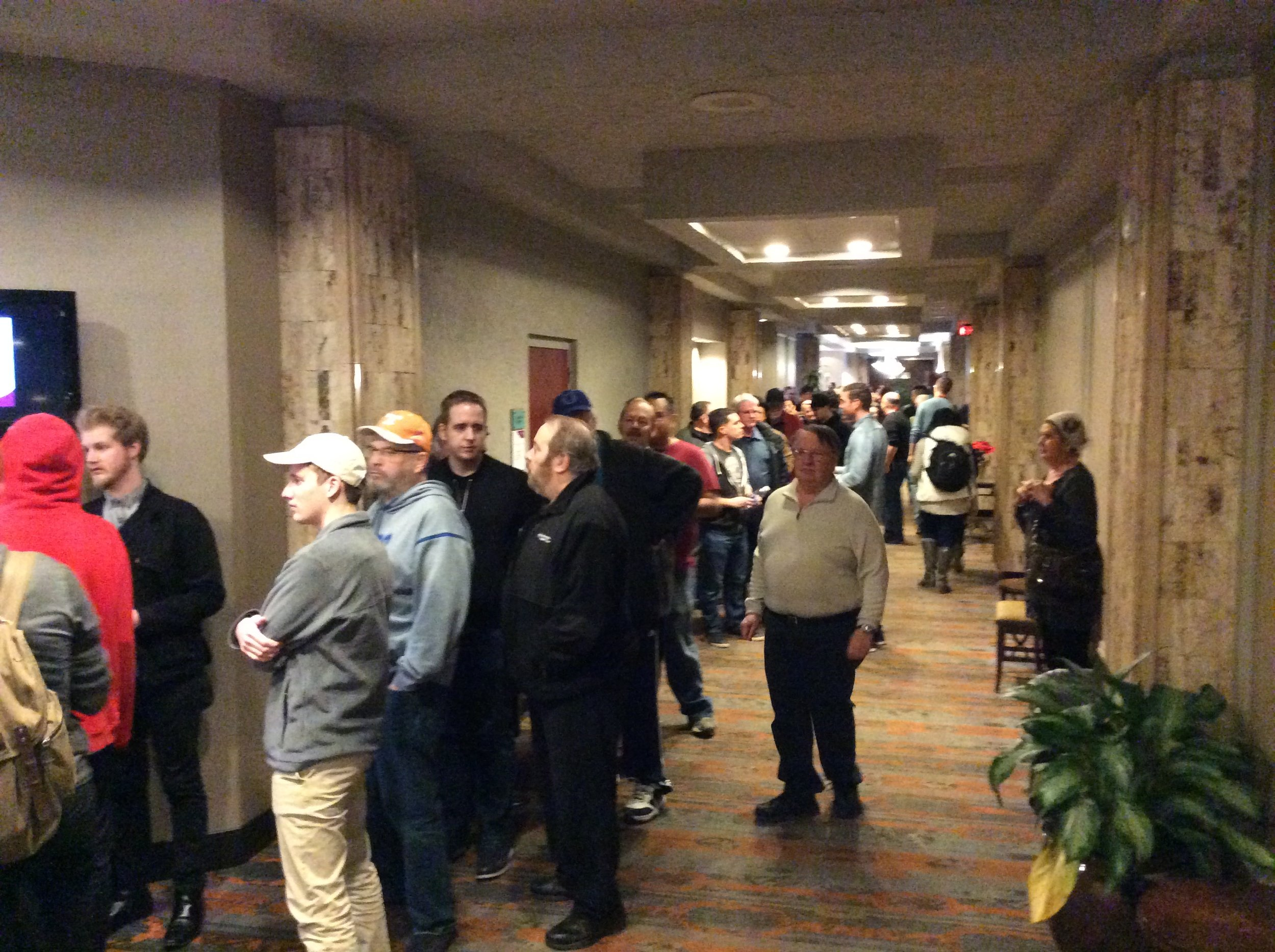 Convention registration line