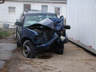 Michael Night's Crashed Car