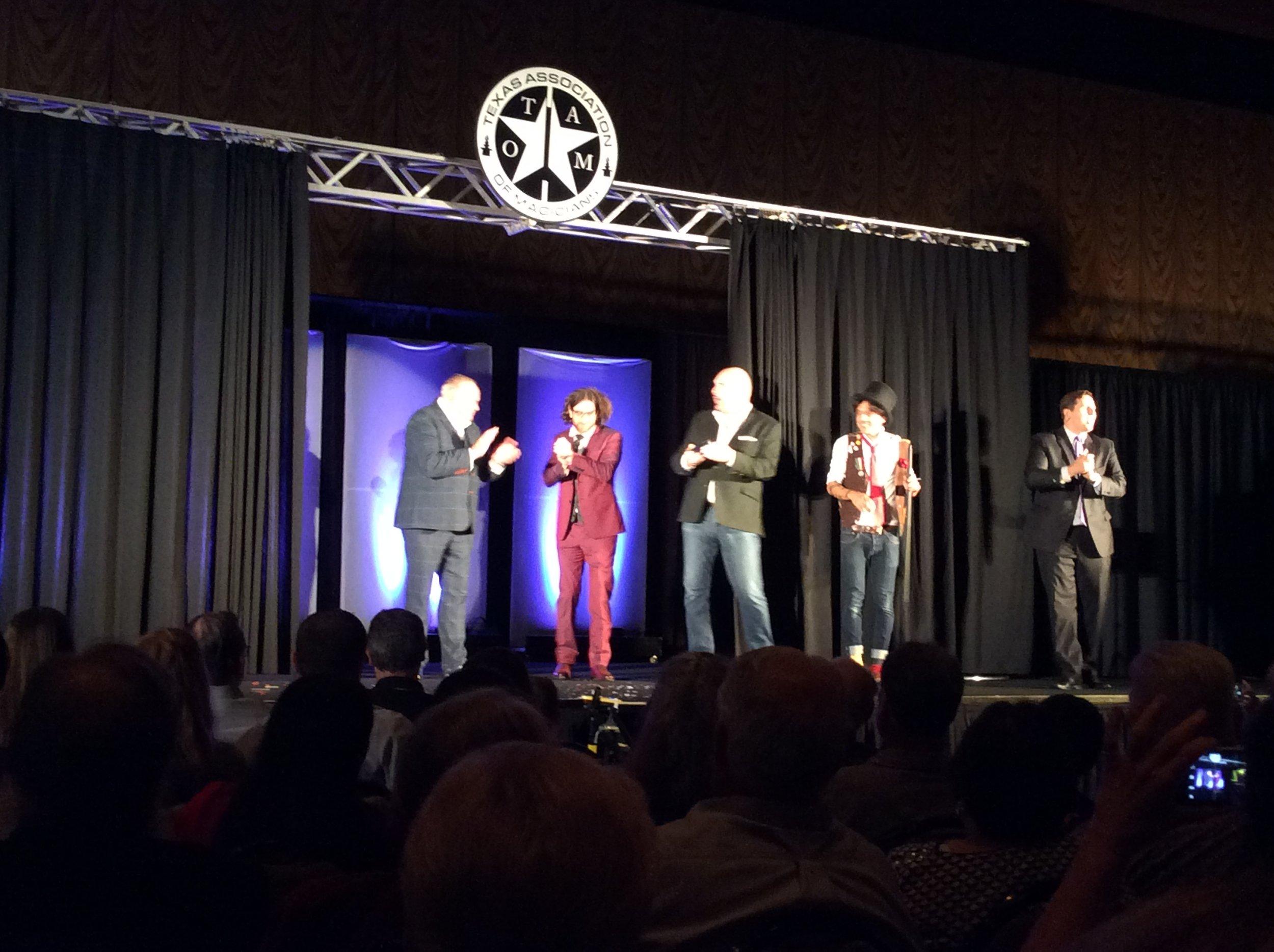 John Archer, Shane Cobalt, Mario the Magician and Ben Jackson (emcee)