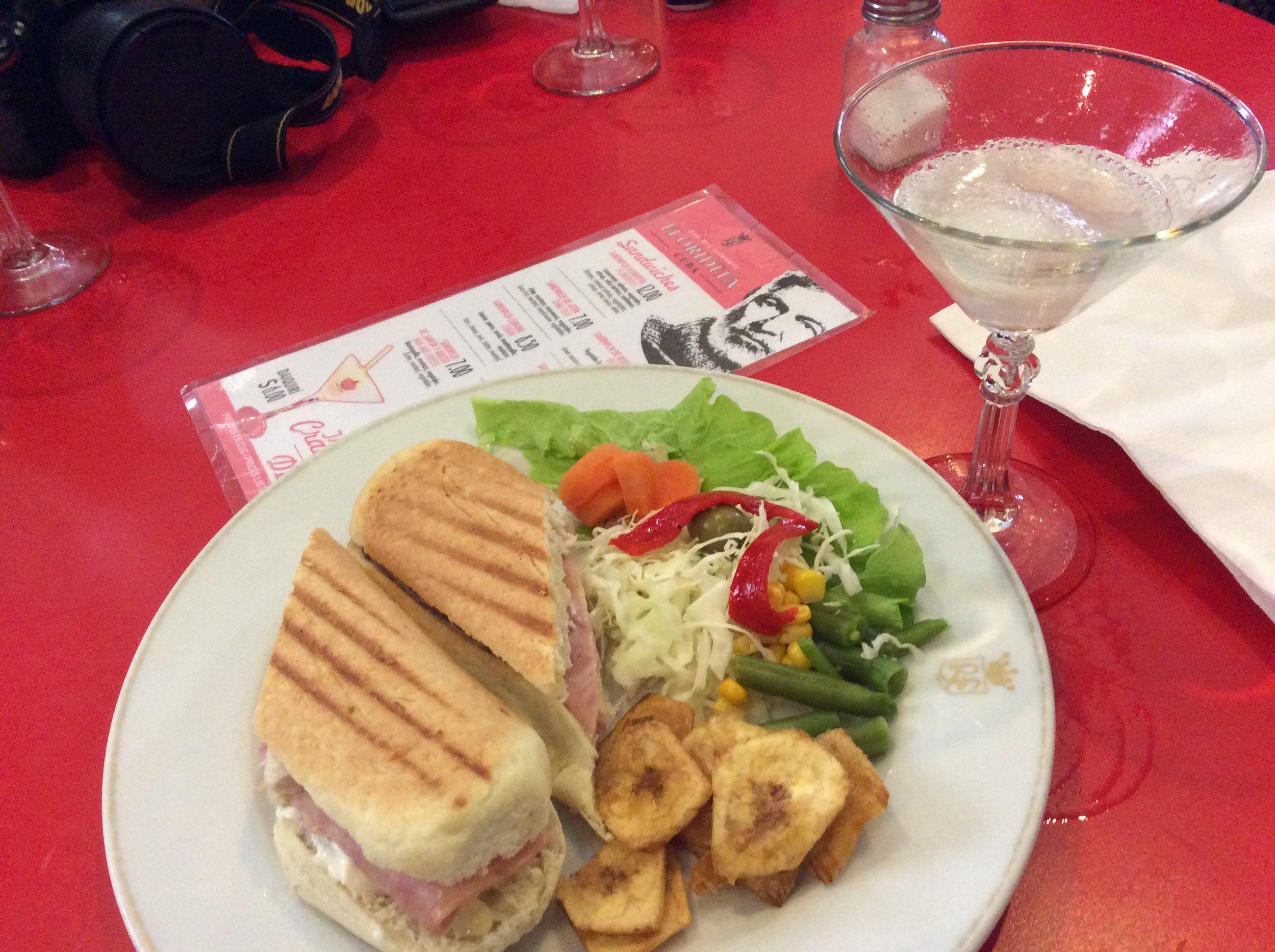 Cuban sandwich at Floridita