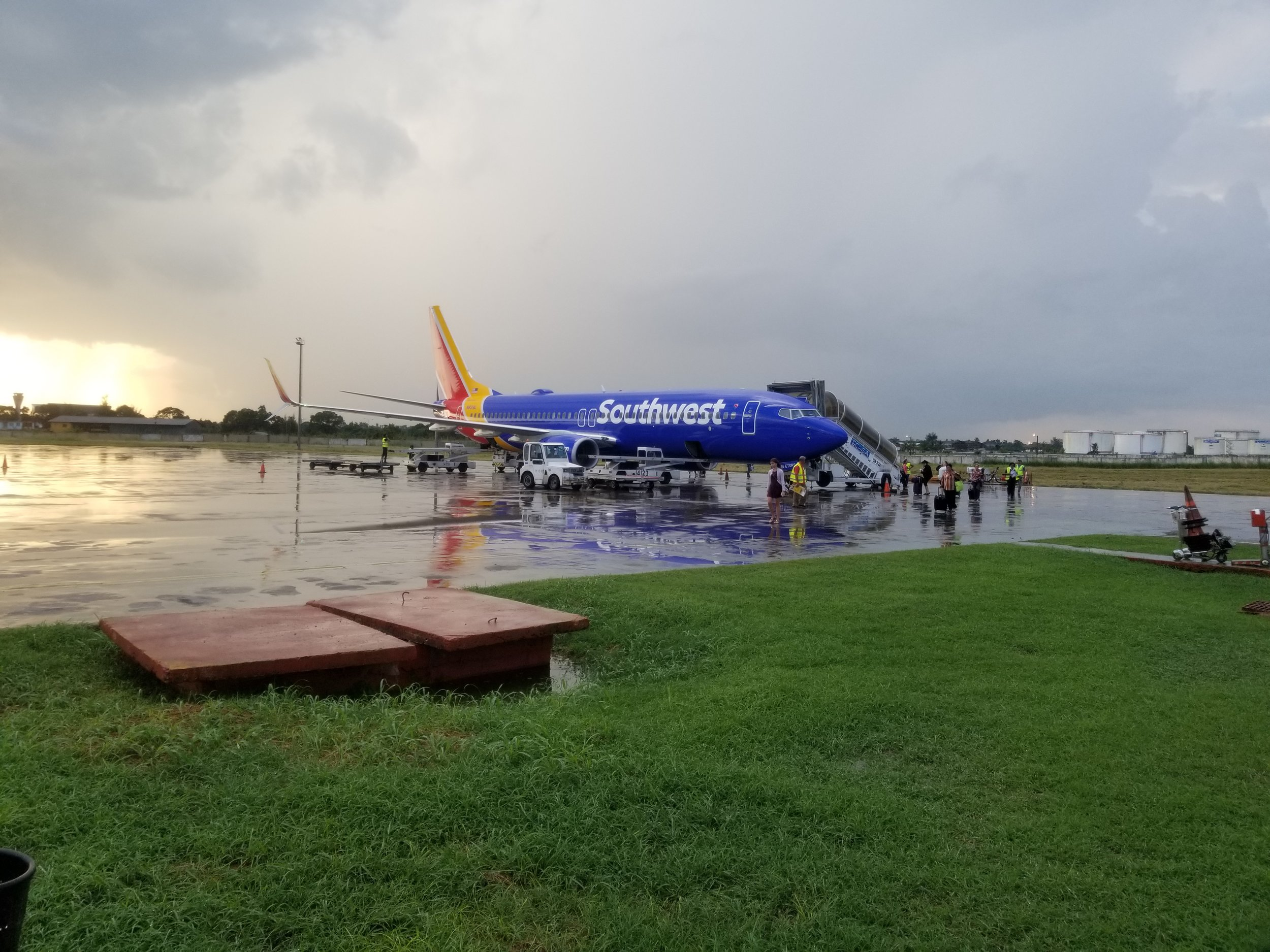 Southwest Airlines jet that brough me to Havana