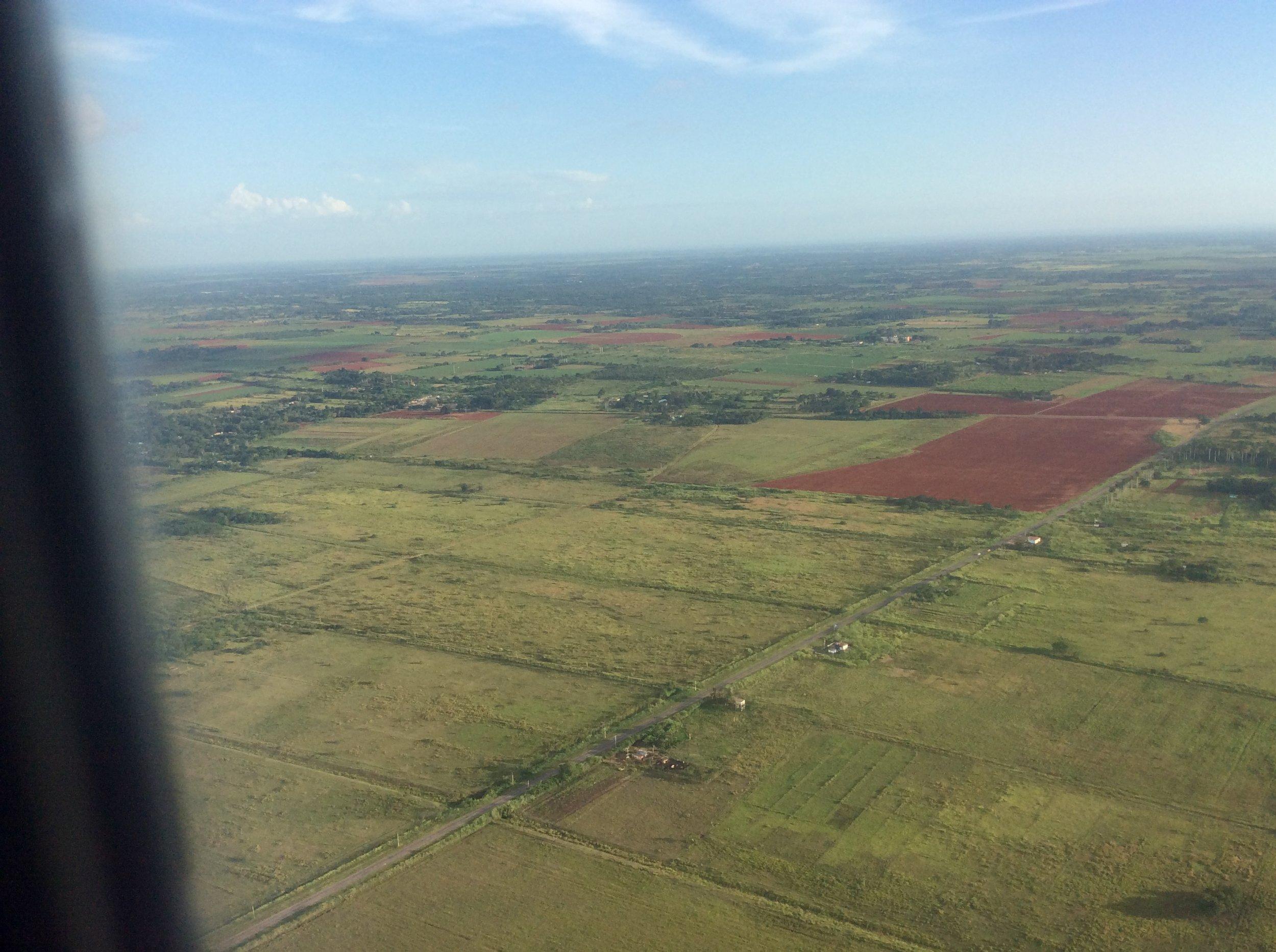 First view of Cuba before landing in Havana