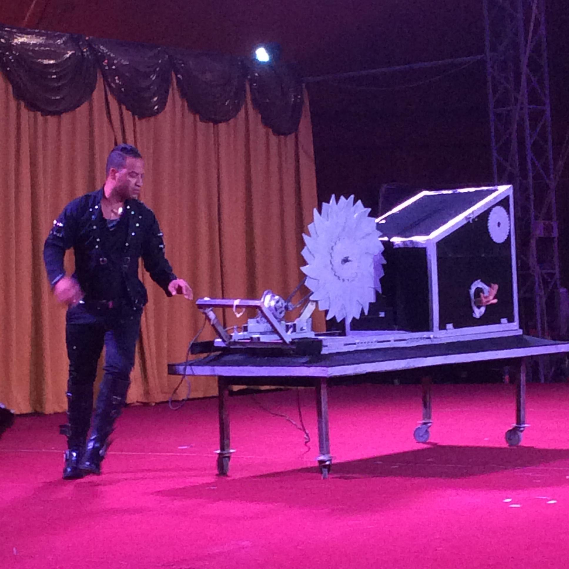 Cuban Illusionist in Circus