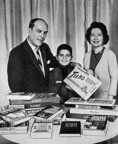 Mr. & Mrs. John Scarne and their son Teeko