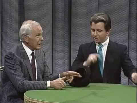 Paul Gertner with Johnny Carson on the Tonight Show