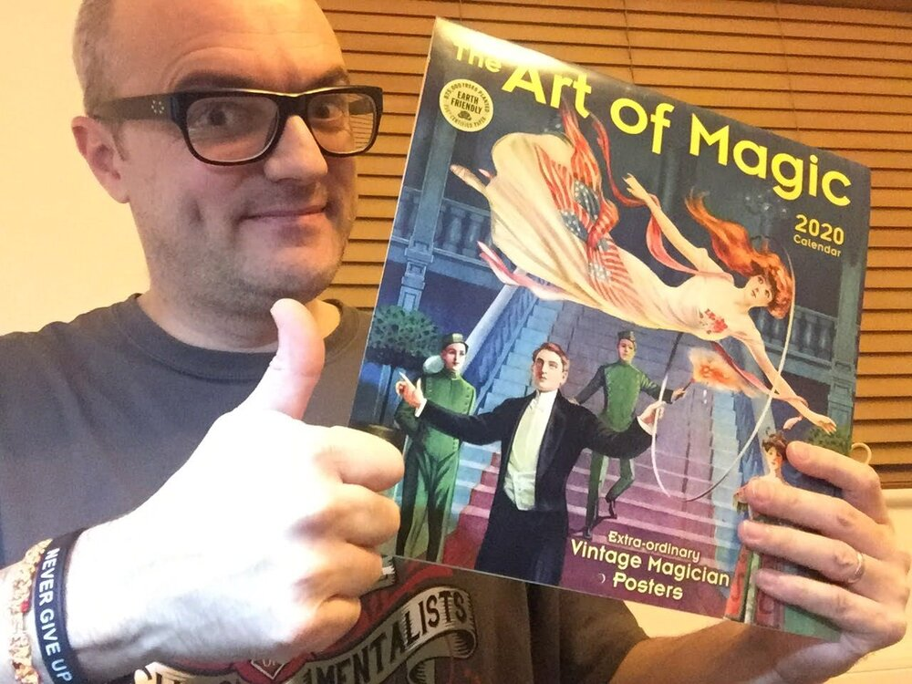 Nigel Quinn, from England, received his 2020 Magic Calendar. If you ordered and received one, then take a picture and send it to me and I'll post your picture on the blog, too! You can order your calendar from the link below.