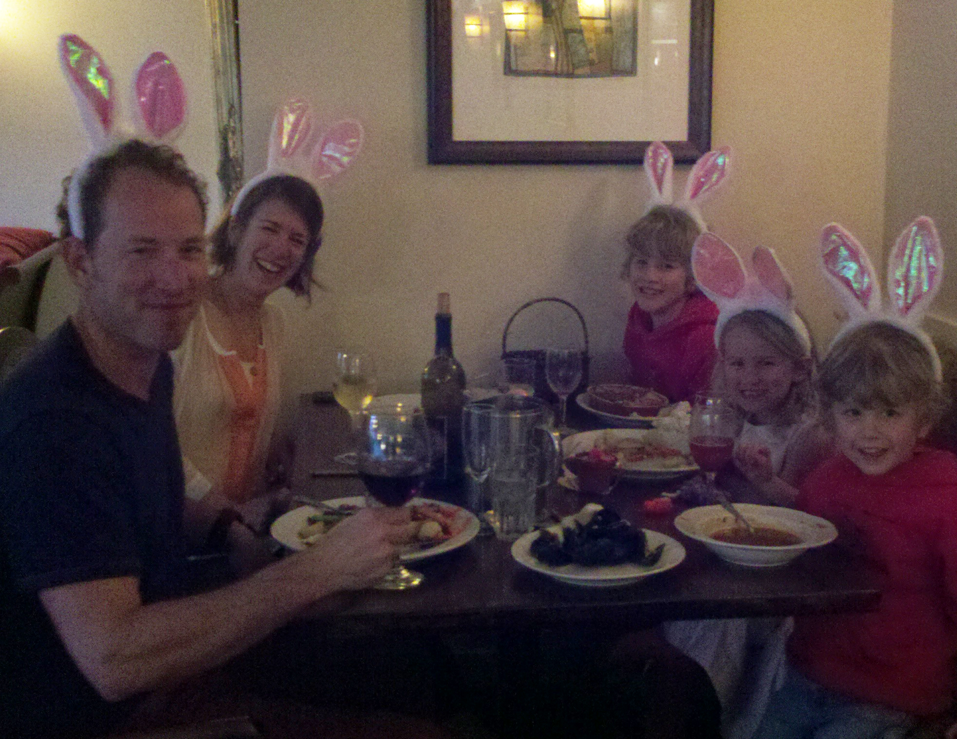Look Family loves Easter Dinner