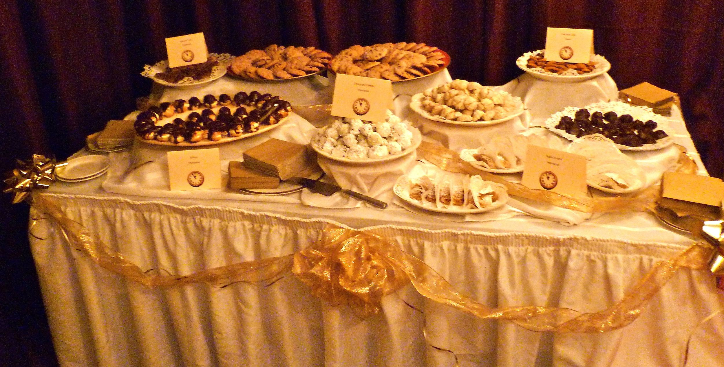 Eclairs, strudel, cakes, cookies and more