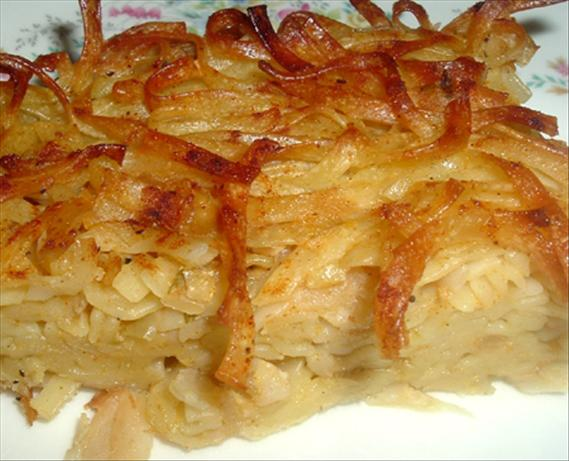 Kugle - So many KINDS of Kugle. Our homemade egg noodles fit perfectly in this casserole.
