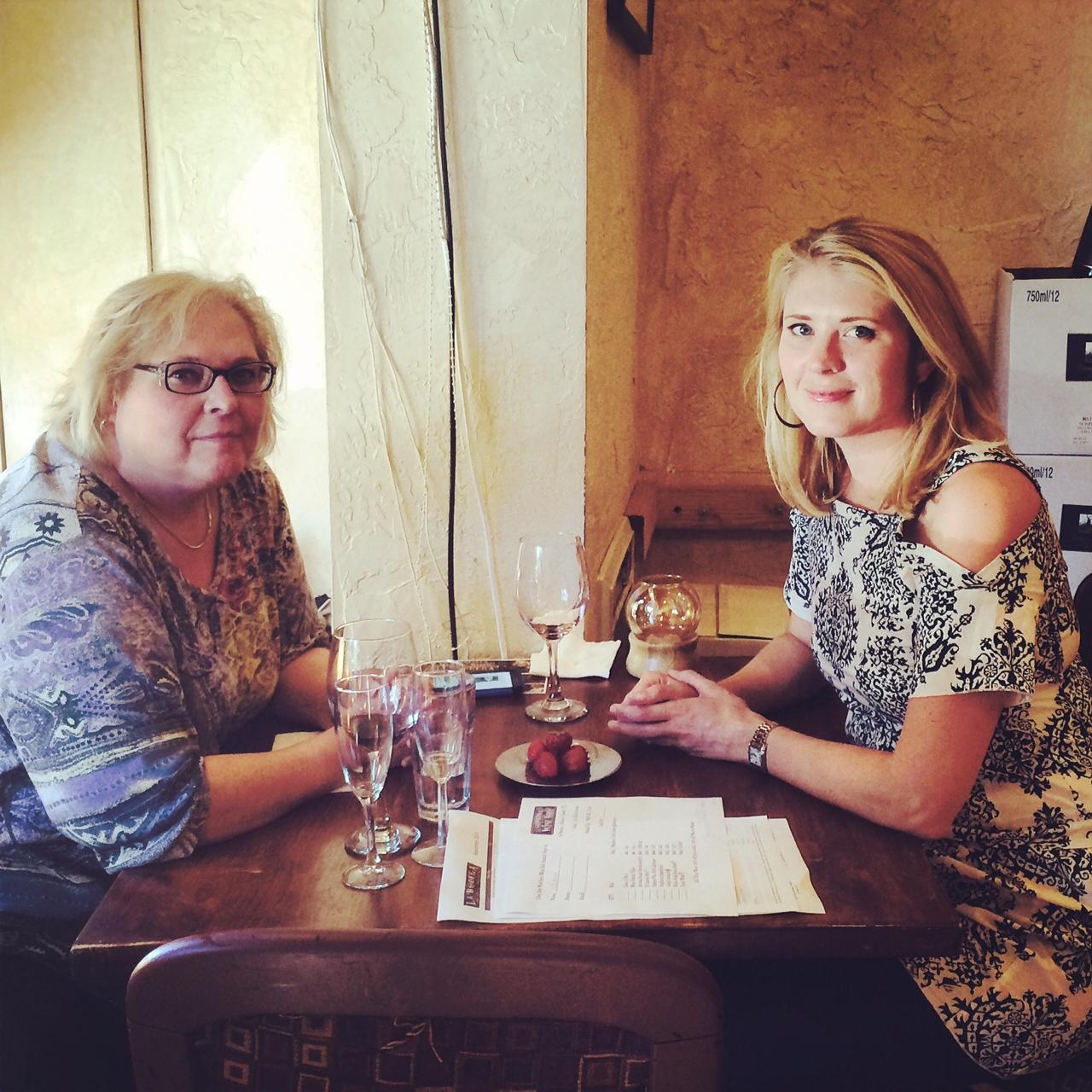 Wine Club Members enjoying a sunny day at the Sonoma Wine Shop - ThanksJessica Ulstad