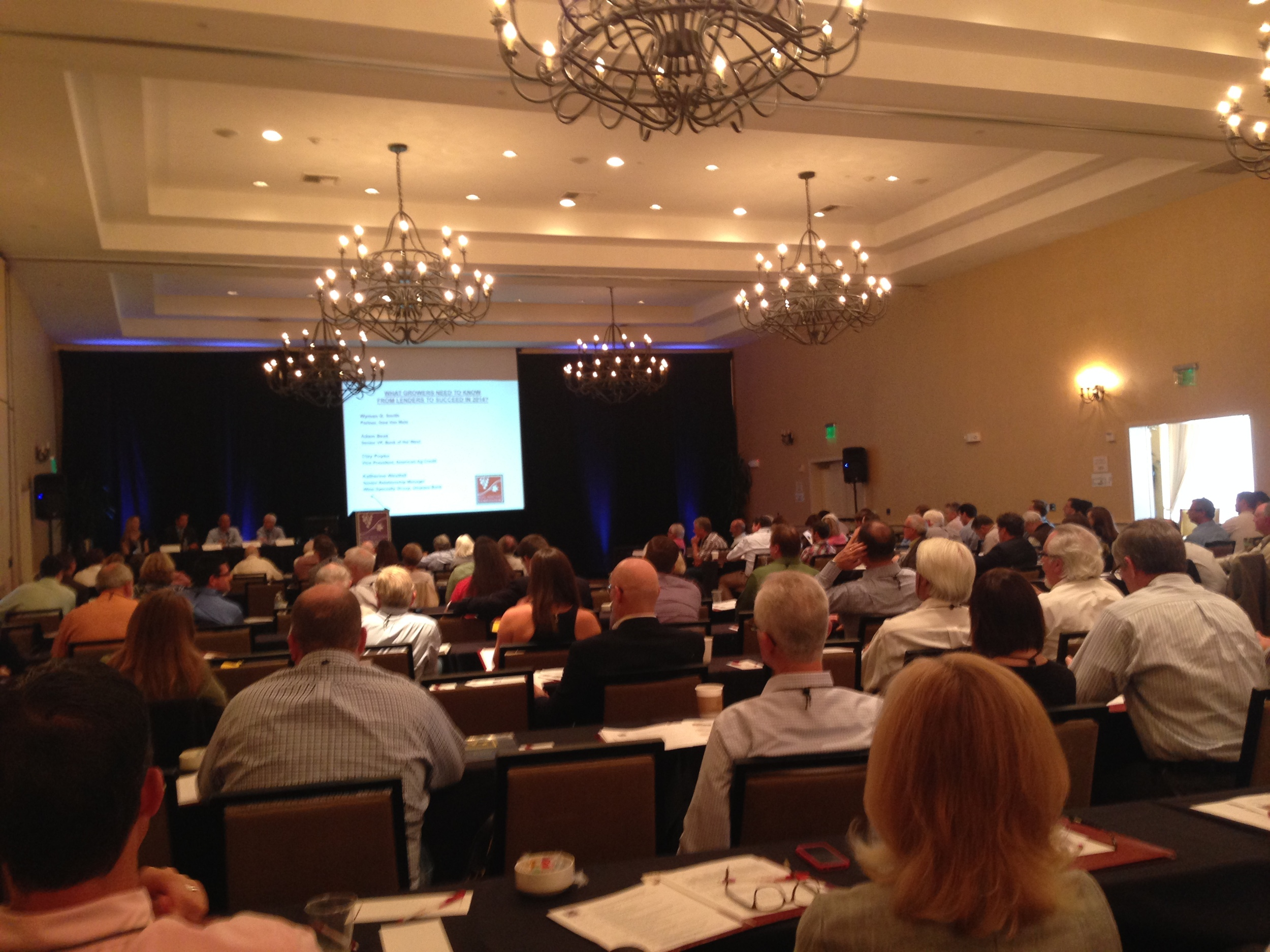 Photo of the Napa Valley Vineyard Economics Symposium of 2014