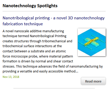 Nano Letters paper on Nanotribological Printing is featured on nanowerk.com! Click the image to read the article!
