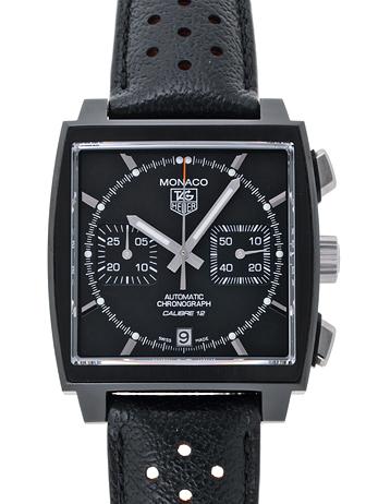 Tag Heuer monaco black on black watch