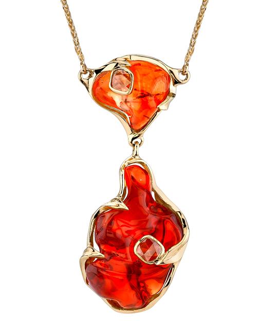 Fire Opal Pendant