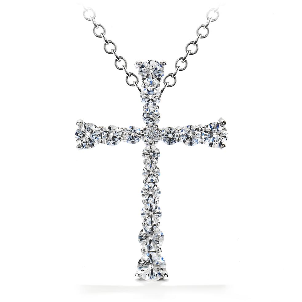 Hearts on Fire Divine Journey Cross Pendant Necklace featuring diamonds cut better than ideal.  $2290