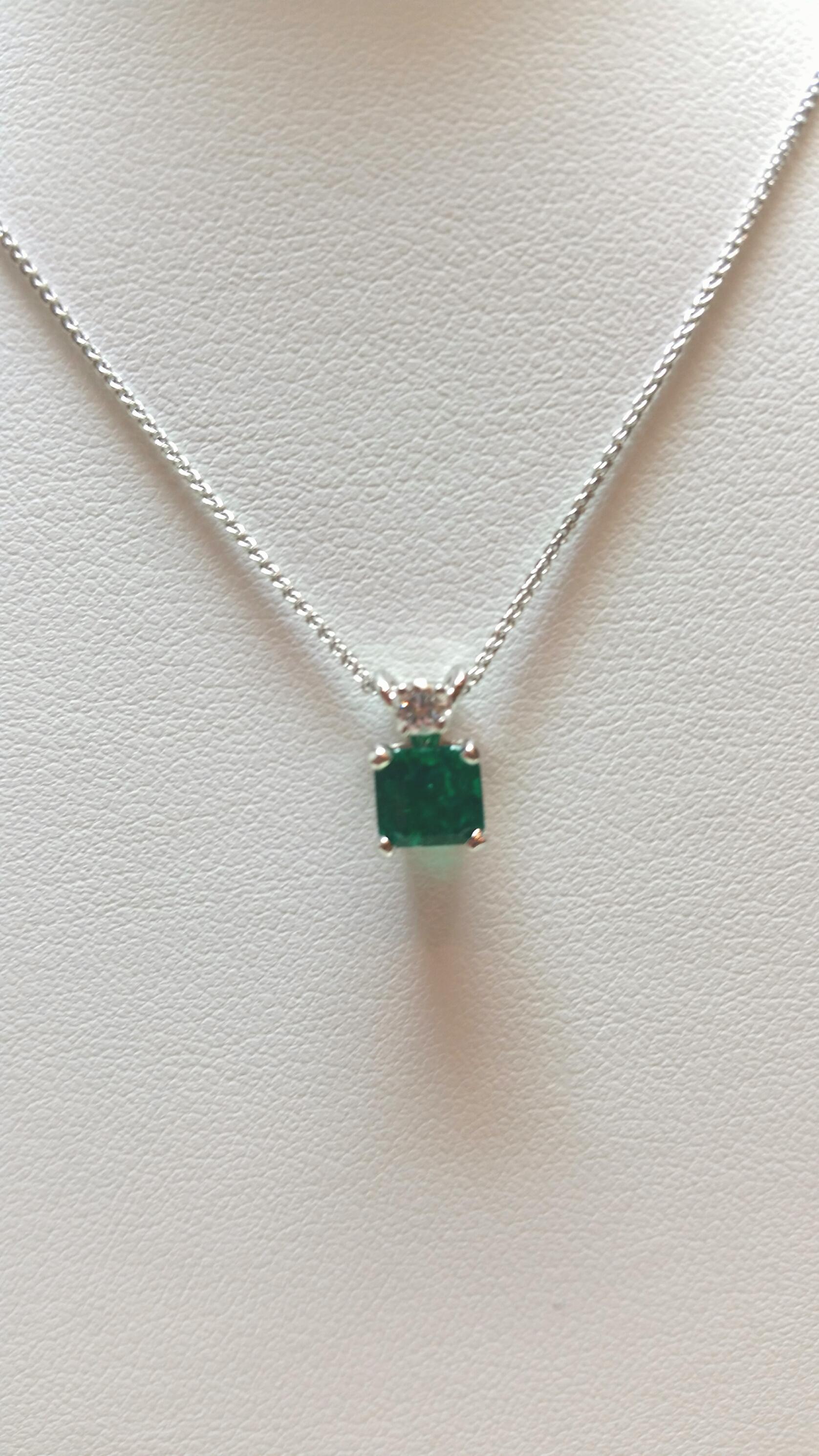 96 Carat Square Emerald Pendant
