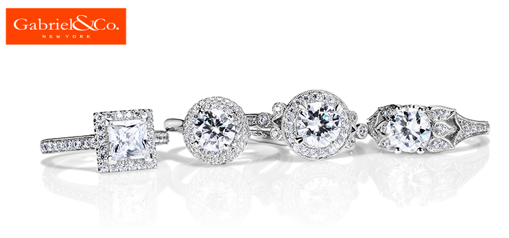 Beautiful and unique engagement rings from Gabriel & Co. Stop in to experience the stunning beauty in person!