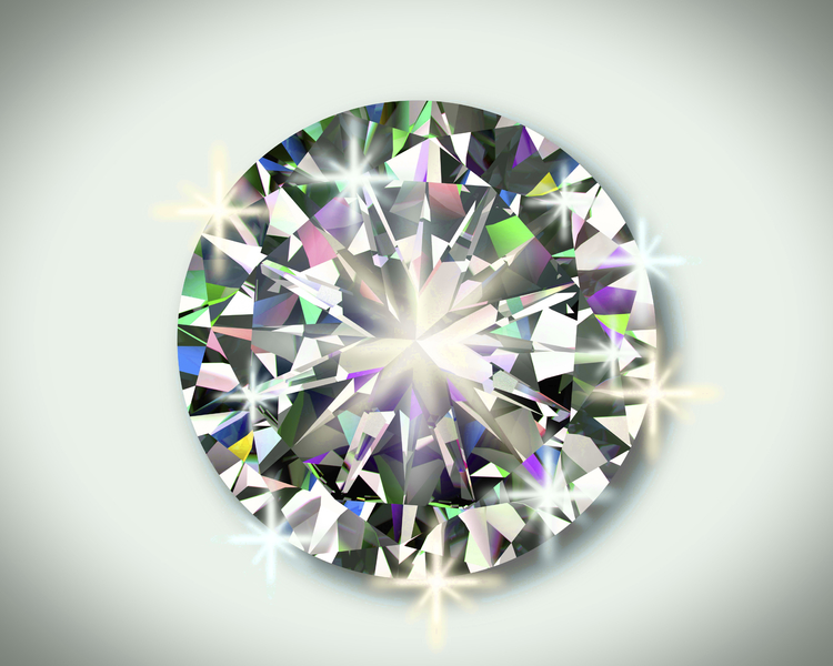 CUT determines the  sparkle facto  r  of a diamond