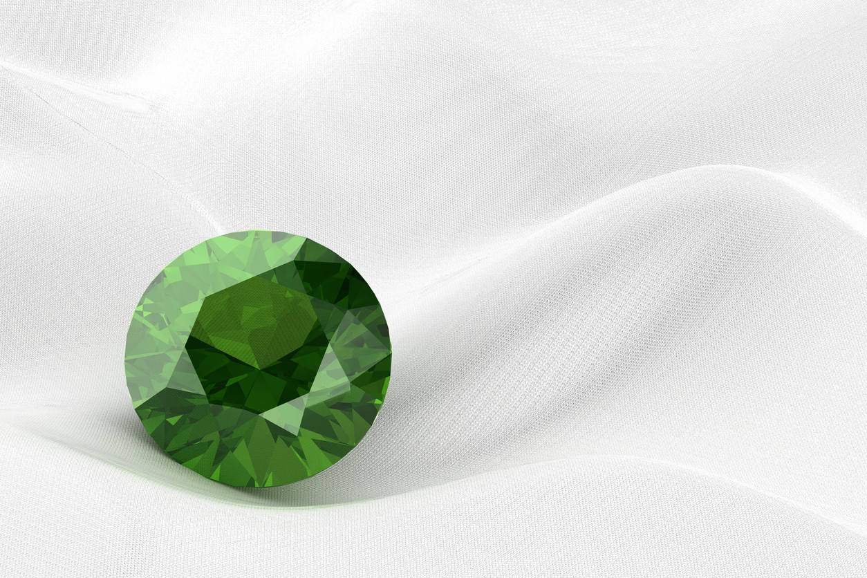 Peridot, in smaller sizes, often is used in beaded necklaces and bracelets.