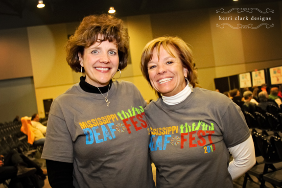 Sandra Edwards and Dana Campbell.  Sure loved seeing the logo on the t-shirts...