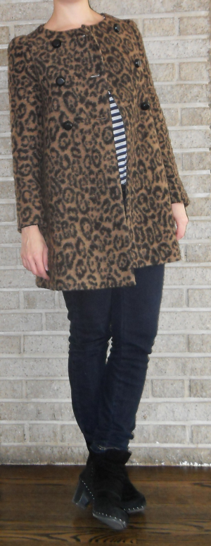 coat: Zara via ebay, tee: H&M, jeans: thrifted, clog boots: dansko