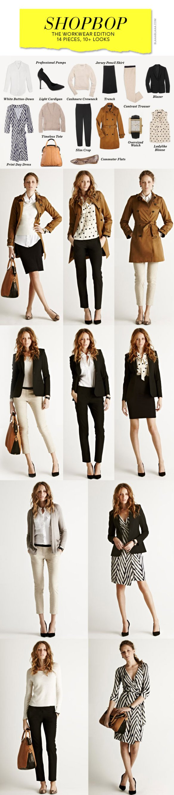 """the ultimate wardrobe, workwear edition"" via shopbop.com"
