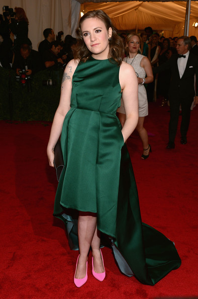 Lena Dunham killing it at last year's Met Gala