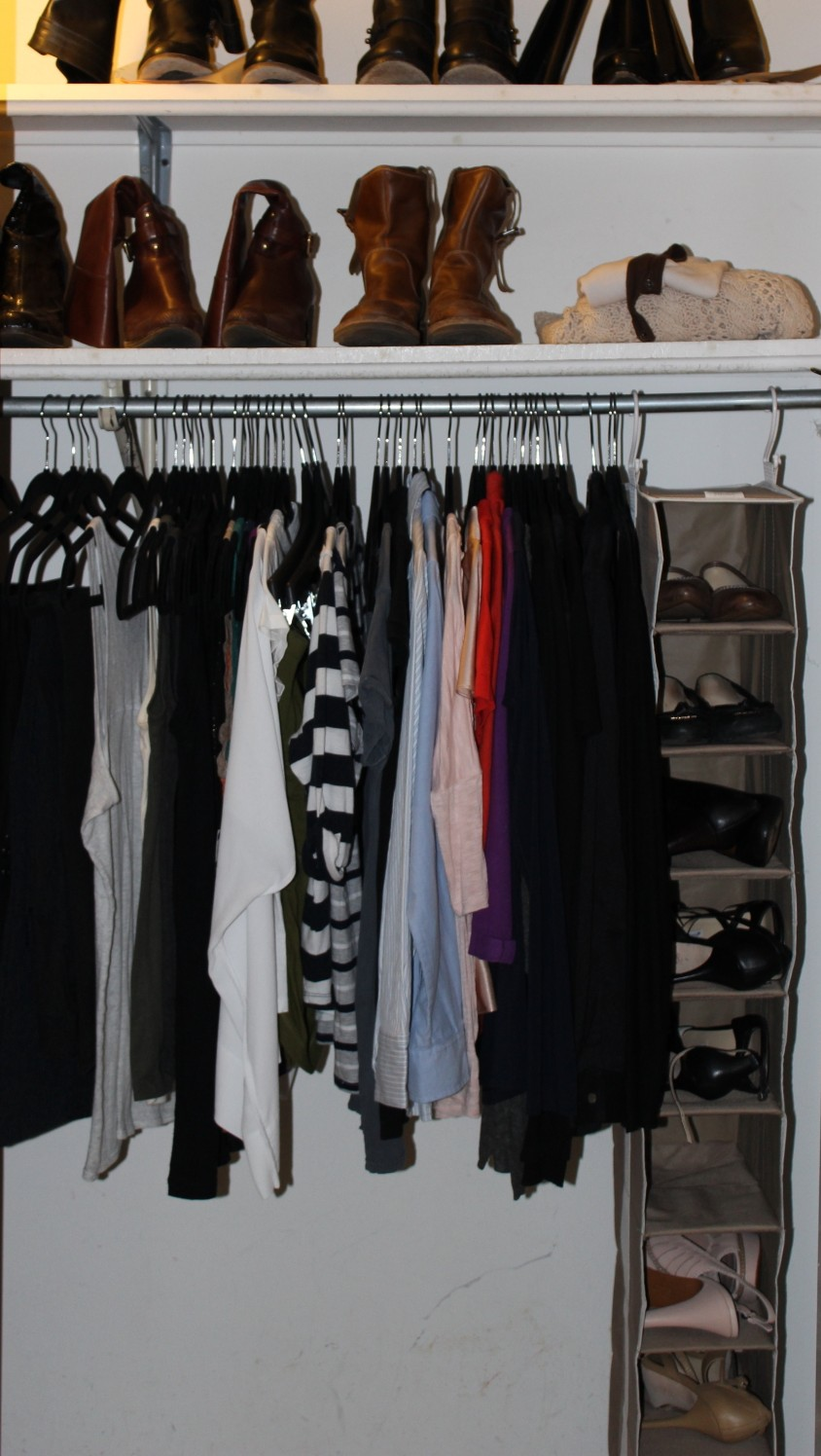 Heidi's closet after