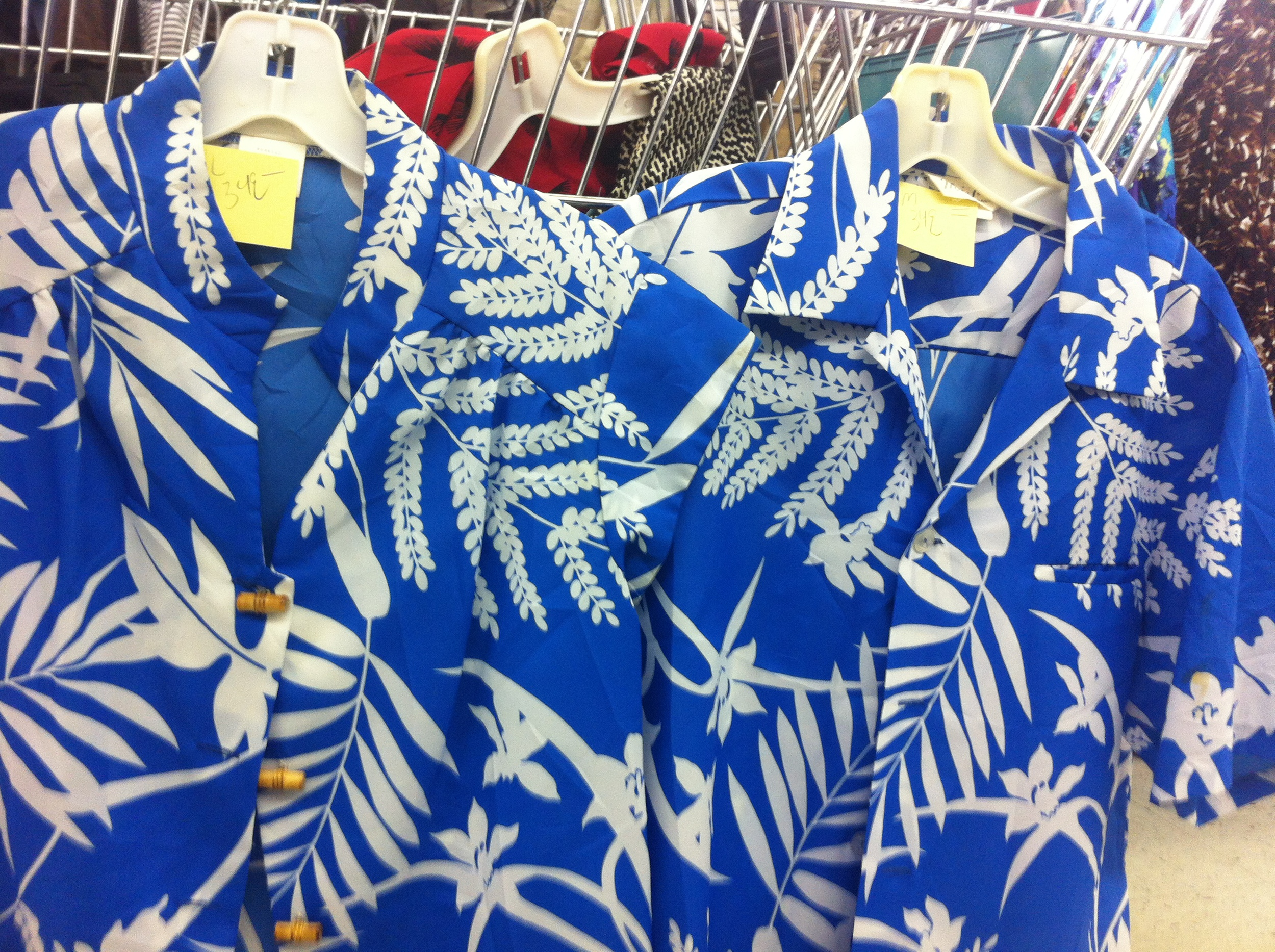 his n'hers hawaiian shirts anyone? seen recently at value village